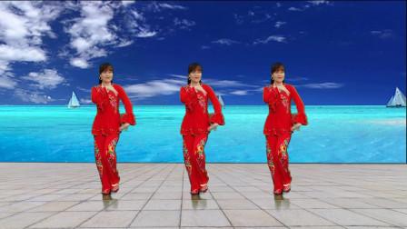 喜庆欢歌广场舞《红红吉祥年》附分解,轻松学会欢欢喜喜跳起来