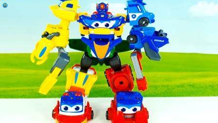 组装变身工程车合体玩具