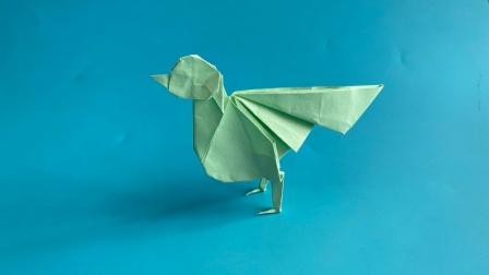 教你折纸百灵鸟,简单易学,生动形象