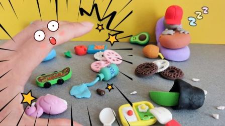 原创黏土定格动画:这个假期过的满地狼藉,打扫起来好治愈!