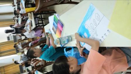 儋州市文化馆公益卡通画班第六次学习剪影