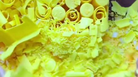 捏黄色立体皂花,嘎嘣脆,太减压治愈了