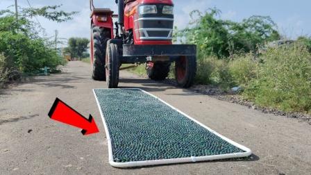10000颗玻璃球VS拖拉机,牛人亲测,结果出乎意料!