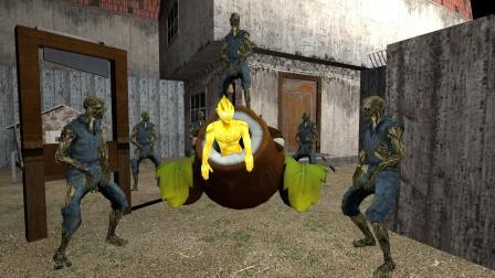 闪耀迪迦被小僵尸抓到密室门口,真是好惨呀