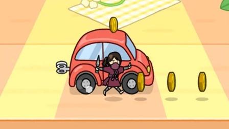 移动玩具车考验忍者小姐姐 我爱躲猫猫