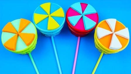 趣味亲子太空沙冰淇淋魔力72变,小朋友学习认识颜色分享礼物啦
