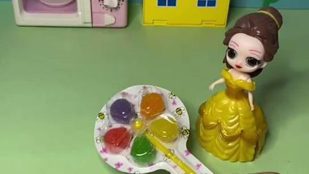 趣味玩具:贝儿真坏,把白雪的风车糖偷走了