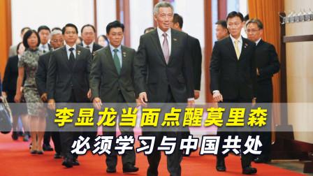 """澳媒称李显龙当面点醒莫里森:""""我们必须学习与中国共处"""""""