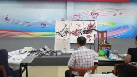 儋州市文化馆公益成人国画班第六次学习剪影