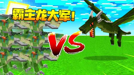【木鱼】我的世界:木鱼驯服了十只霸主龙,带着它们去挑战火龙,结果却。。。