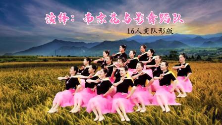 花与影广场舞《在希望的田野上》16人变队形