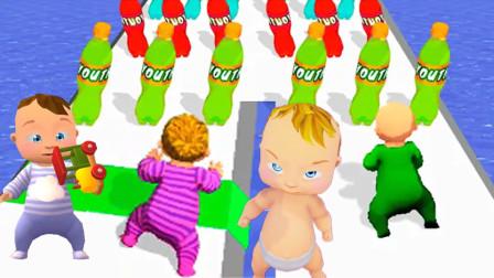 模拟人生:塔米喝饮料后变年轻了,小宝宝爬楼梯去天堂!