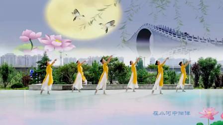 郑州宁宁广场舞《江南夜色》正背面附分解