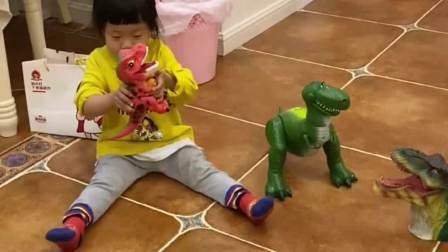 今天家里来了一只大恐龙