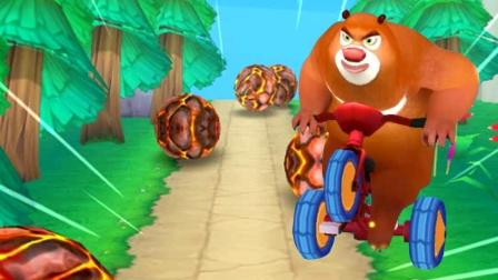 熊二骑儿童三轮车 熊出没4丛林冒险