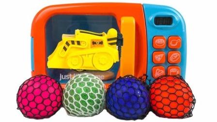 魔法微波炉魔力72变,捏捏葡萄球创意新玩法助你萌宝识颜色啦