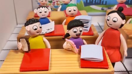 老师当外卖员给学生送作业,作业也太多了吧
