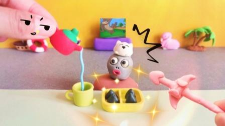 原创黏土定格动画:端午节,小僵尸第一次吃粽子,太逗了!