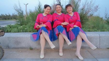 2021-388烟台梅英广场舞《醉红妆》正背面演示制作:龙梅