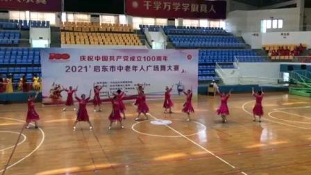 2021年6月12日,庆祝建党100年,启东市广场舞大赛。