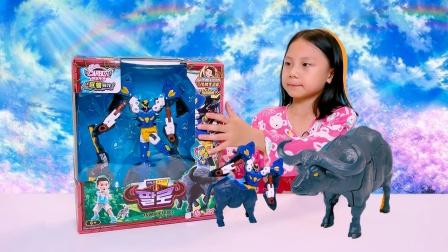 买奇酷变形机器人狂牛法洛玩具
