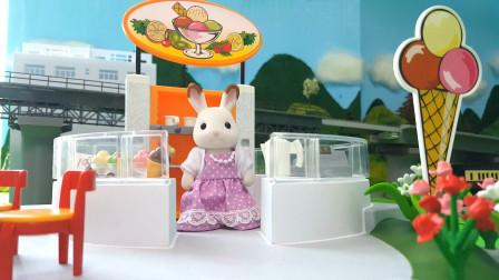 兔宝宝们当了小小服务员