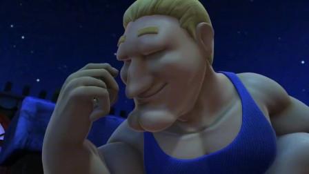 猪猪侠:这个怪兽比超人强还臭美,偷完东西,还得先给皮肤补水