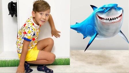 魔力玩具现身大鲨鱼,看看萌娃怎么对付呀