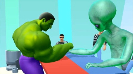绿巨人KO外星人 肌肉人冲冲冲