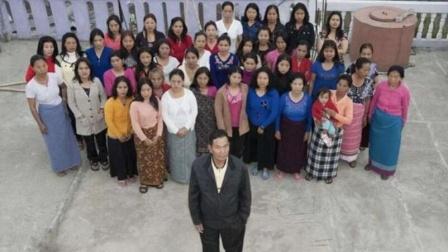 """印度""""爹王""""去世 有39名妻子94个子女"""
