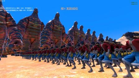 500个超强怪兽熔岩雷德王,能打败1000个海贼王路飞吗?