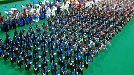 乐高城堡系列军队阵列展示