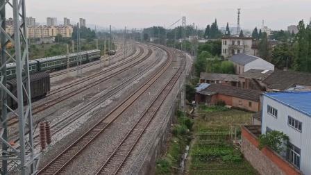 上局合段HXD3C-0834牵引电客K594撮镇两道通过