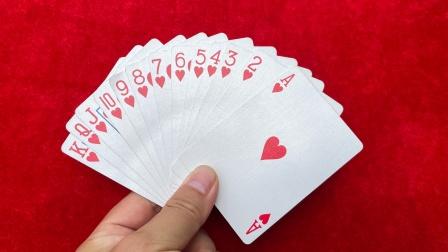 洗出一条龙魔术,很简单,学会逗朋友玩