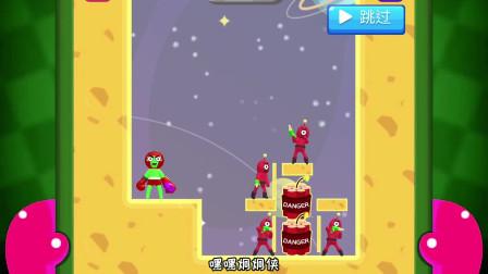 铁拳英雄游戏:我打中了木板,让奥力给压扁了外星人。
