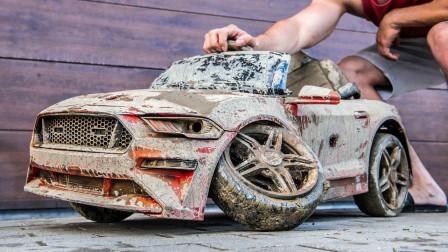 报废的玩具车先别扔!牛人实力演示翻新修复,转眼又是一件新品!