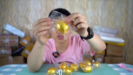 开箱试吃黄金蛋,一个才四块钱,吃起来味道如何?