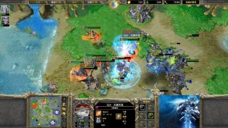 三英雄忙对空 魔兽争霸大帝解说 120 vs LawLiet