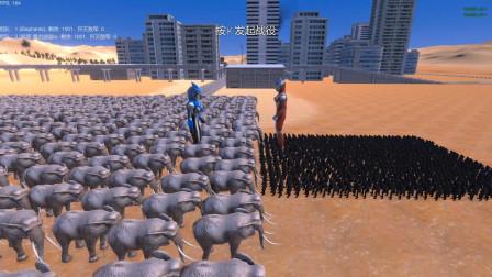 布鲁奥特曼带领1000只大象,挑战强力迪迦和1000个铁血战士