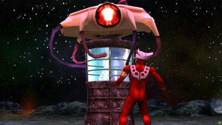 雷欧奥特曼中了怪兽的诡计,被陷阱关押,能量也被怪兽吸光了