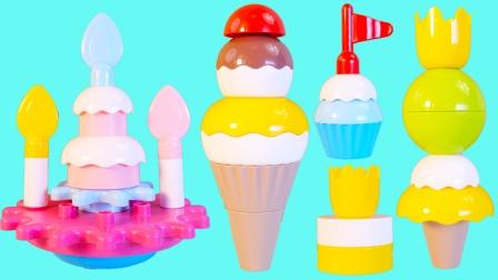 布鲁可积木玩具 小猪佩奇的生日会上有哪些好吃的蛋糕呢?