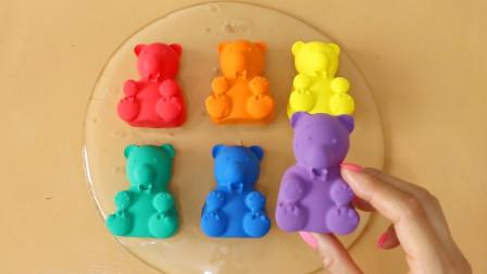 DIY混泥组合,无硼砂,可爱无限创意解压,喜欢哪个?