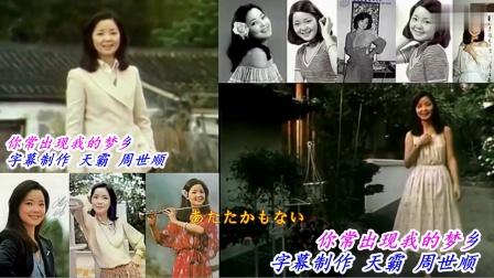 鄧麗君【小村之戀】1977 1978  視頻 雙畵面 {國語版} 中日字幕