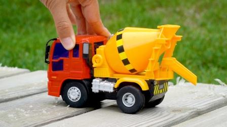 玩具车模型:混凝土搅拌车、翻斗车、卡车,儿童工程车汽车玩具