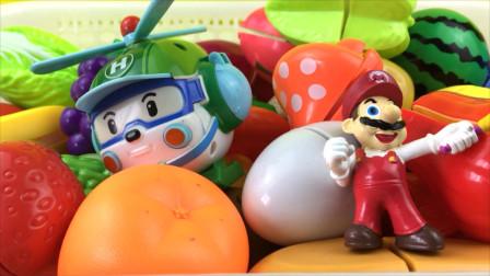 直升机海利和超级玛丽玩切水果