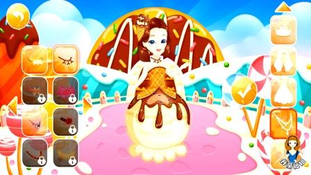 芭比公主换装大冒险第21关,芭比变装成了一颗巧克力冰淇淋球
