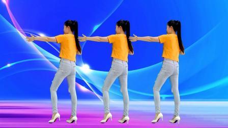 网络流行广场舞《爱我是你说的谎》动感64步,背面
