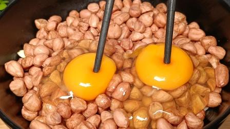 花生米里打2个鸡蛋,没想到这么好吃,太解馋了,越吃越想吃