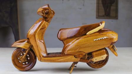 """高手在民间!牛人纯手工打造一辆""""摩托车"""",手艺令人称赞!"""
