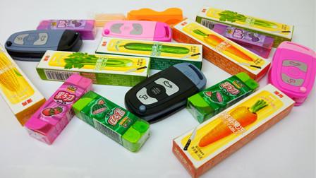 果乐刀棒棒糖,钥匙糖和果蔬果冻
